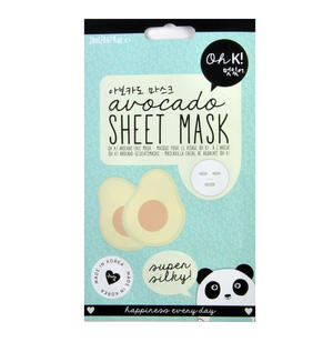 Avocado Sheet Mask - Super Silky Sheet Face Mask - Oh K! Made in Korea Thumbnail 1