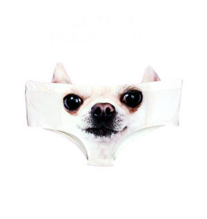 Chihuahua Earpanties - Animal Photo Print Cheekster Panties