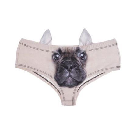 French Bulldog Earpanties - Animal Photo Print Cheekster Panties