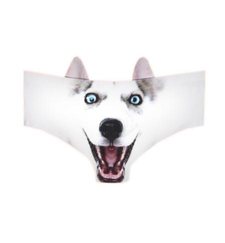 Husky Earpanties - Animal Photo Print Cheekster Panties