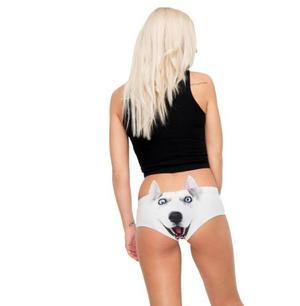Husky Earpanties - Animal Photo Print Cheekster Panties Thumbnail 2