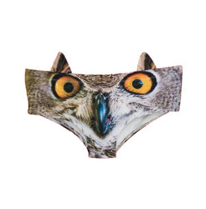Owl Earpanties - Animal Photo Print Cheekster Panties