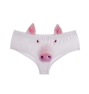 Pig Earpanties - Animal Photo Print Cheekster Panties