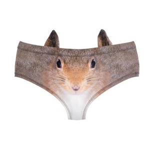 Squirrel Earpanties - Animal Photo Print Cheekster Panties Thumbnail 2