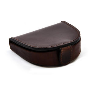 Traditional Brown Leather Bi-Fold Coin Purse Thumbnail 2