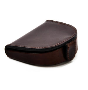 Traditional Brown Leather Bi-Fold Coin Purse Thumbnail 3