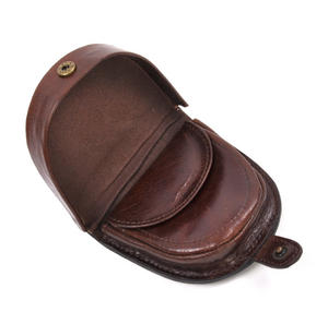 Traditional Brown Leather Bi-Fold Coin Purse Thumbnail 5