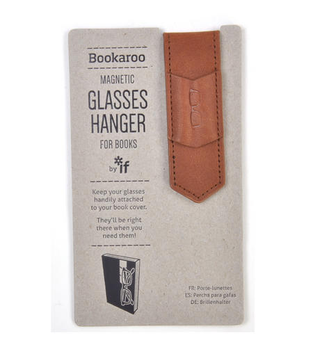 Brown Bookaroo Magnetic Glasses Hanger For Books