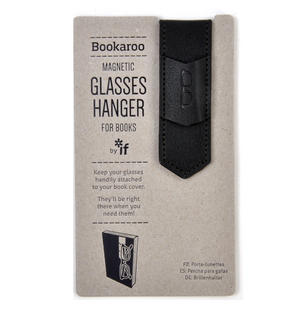 Black Bookaroo Magnetic Glasses Hanger For Books Thumbnail 1
