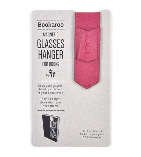 Pink Bookaroo Magnetic Glasses Hanger For Books