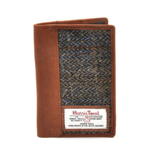 Classic Harris Tweed Passport Wallet Thumbnail 1