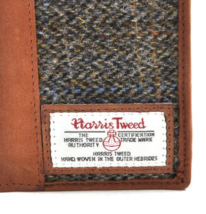 Classic Harris Tweed Passport Wallet Thumbnail 2