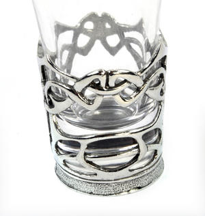 Enamelled Dot - Solid Pewter Shot Glass Holder and Glass Thumbnail 2