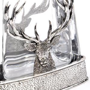 Highland Stag Pyramid Decanter in Heavy Solid Pewter in Presentation Box Thumbnail 2
