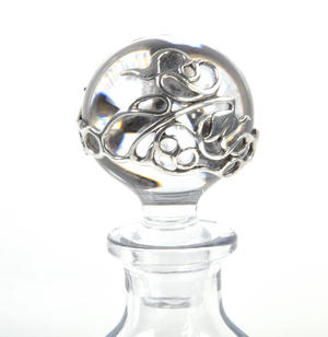 Art Deco Swirl Orbit Decanter in Heavy Solid Pewter in Presentation Box Thumbnail 2