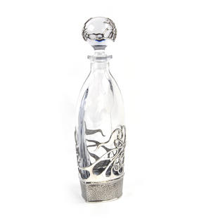 Art Deco Swirl Orbit Decanter in Heavy Solid Pewter in Presentation Box Thumbnail 4