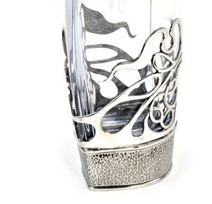 Art Deco Swirl Orbit Decanter in Heavy Solid Pewter in Presentation Box Thumbnail 5