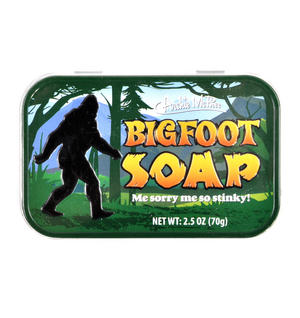 Bigfoot Soap in a Tin