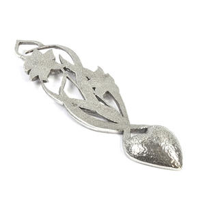 Open Daffodil Lovespoon - Everlasting Welsh Love Spoon Forged in Pewter Thumbnail 5
