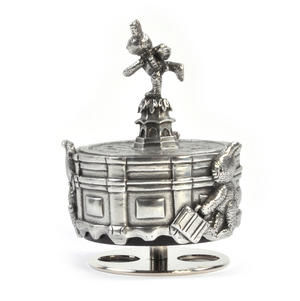 Bunnies Piccadilly Circus Music Carousel - Pewter Musical Box by Royal Selangor