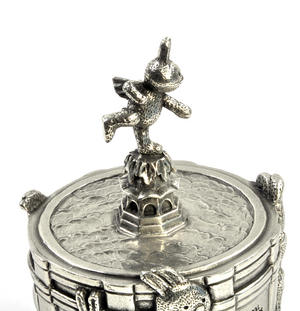 Bunnies Piccadilly Circus Music Carousel - Pewter Musical Box by Royal Selangor Thumbnail 3