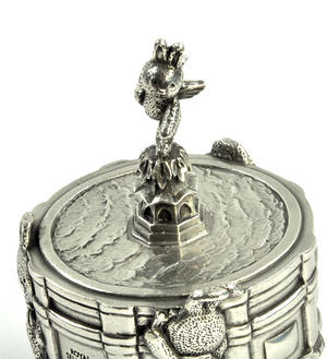 Bunnies Piccadilly Circus Music Carousel - Pewter Musical Box by Royal Selangor Thumbnail 4