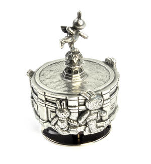 Bunnies Piccadilly Circus Music Carousel - Pewter Musical Box by Royal Selangor Thumbnail 6