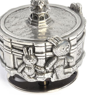 Bunnies Piccadilly Circus Music Carousel - Pewter Musical Box by Royal Selangor Thumbnail 7