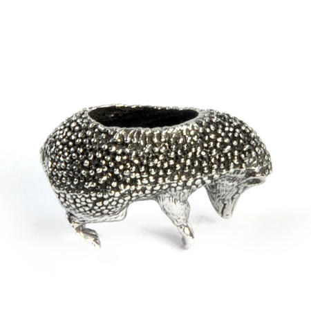 Hedgehog Pin Cushion in Solid Pewter