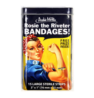 Rosie the Riveter Bandages Plasters - Band Aids In A Tin Thumbnail 2