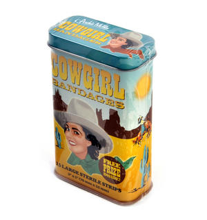 Cowgirl Bandages Plasters - Band Aids In A Tin Thumbnail 2