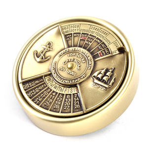 Brass 50 Years Nautical Calendar 2017 - 2066 Thumbnail 1