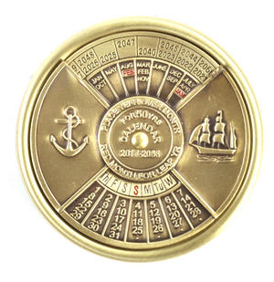 Brass 50 Years Nautical Calendar 2017 - 2066 Thumbnail 4