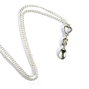 Heart Lovespoon Necklace - Everlasting Welsh Love Spoon Forged in Pewter Thumbnail 2