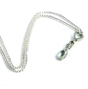 Heart Lovespoon Necklace - Everlasting Welsh Love Spoon Forged in Pewter Thumbnail 5
