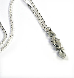 Horseshoe Lovespoon Necklace - Everlasting Welsh Love Spoon Forged in Pewter Thumbnail 4