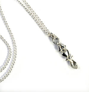 Horseshoe Lovespoon Necklace - Everlasting Welsh Love Spoon Forged in Pewter Thumbnail 5