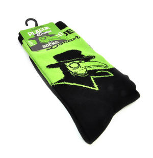 Plague Doctor Socks - Soft Combed Cotton Socks - Men's Dress Socks Thumbnail 1