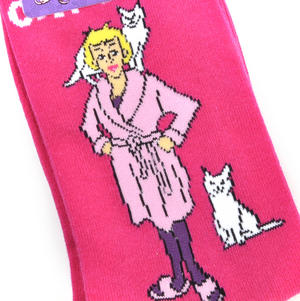 Crazy Cat Lady Socks - Soft Combed Cotton Socks - Women's Crew Socks Thumbnail 2