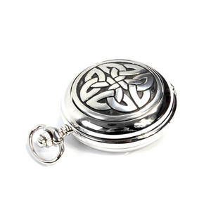 Celtic Quartered Knot - Treasure Chest Pocket Watch and Cufflinks Gift Set Thumbnail 4
