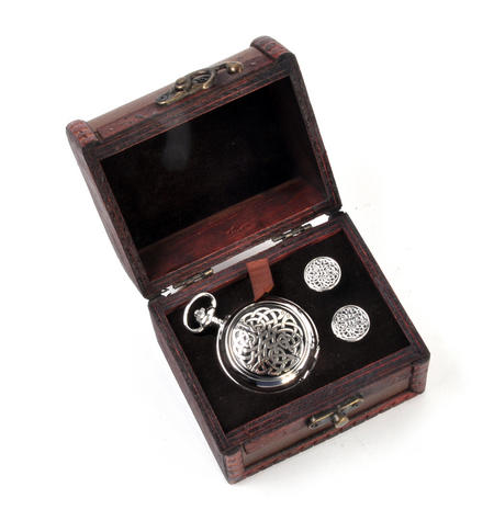 Never Ending Celtic Knot - Treasure Chest Pocket Watch and Cufflinks Gift Set