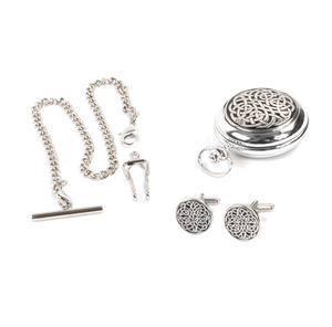 Never Ending Celtic Knot - Treasure Chest Pocket Watch and Cufflinks Gift Set Thumbnail 3
