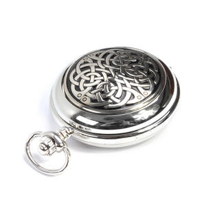 Never Ending Celtic Knot - Treasure Chest Pocket Watch and Cufflinks Gift Set Thumbnail 4