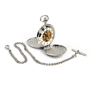 Triple Swirl Celtic Knot - Treasure Chest Pocket Watch and Cufflinks Gift Set Thumbnail 8