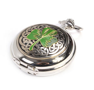 Shamrock Treasure Chest Pocket Watch and Cufflinks Gift Set Thumbnail 4