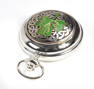 Shamrock Treasure Chest Pocket Watch and Cufflinks Gift Set Thumbnail 8