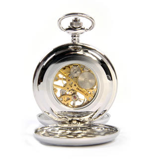 Cymru Two Tone Dragon Treasure Chest Pocket Watch and Cufflinks Gift Set Thumbnail 5