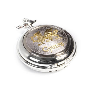 Cymru Two Tone Dragon Treasure Chest Pocket Watch and Cufflinks Gift Set Thumbnail 8