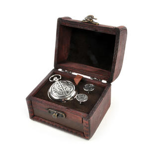 Celtic Circle Treasure Chest Pocket Watch and Cufflinks Gift Set
