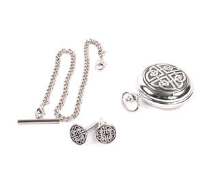 Celtic Circle Treasure Chest Pocket Watch and Cufflinks Gift Set Thumbnail 2